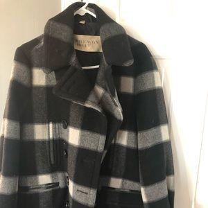 Burberry wool coat. Barely worn.